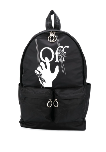 OFF-WHITE hand painters backpack black white