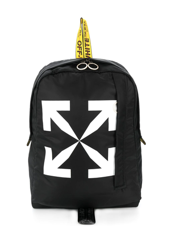 OFF-WHITE arrows easy backpack black white