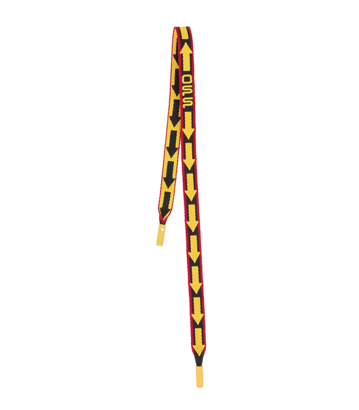 OFF WAVY SHOELACE GADGET BLACK YELLOW
