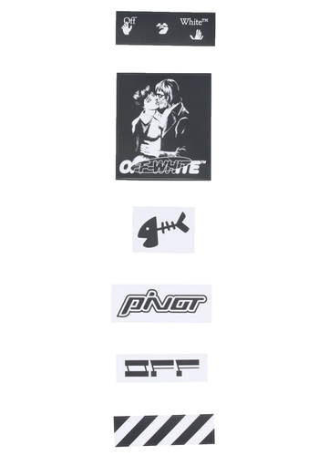 OFF-WHITE stickers set - kiss 21 black white