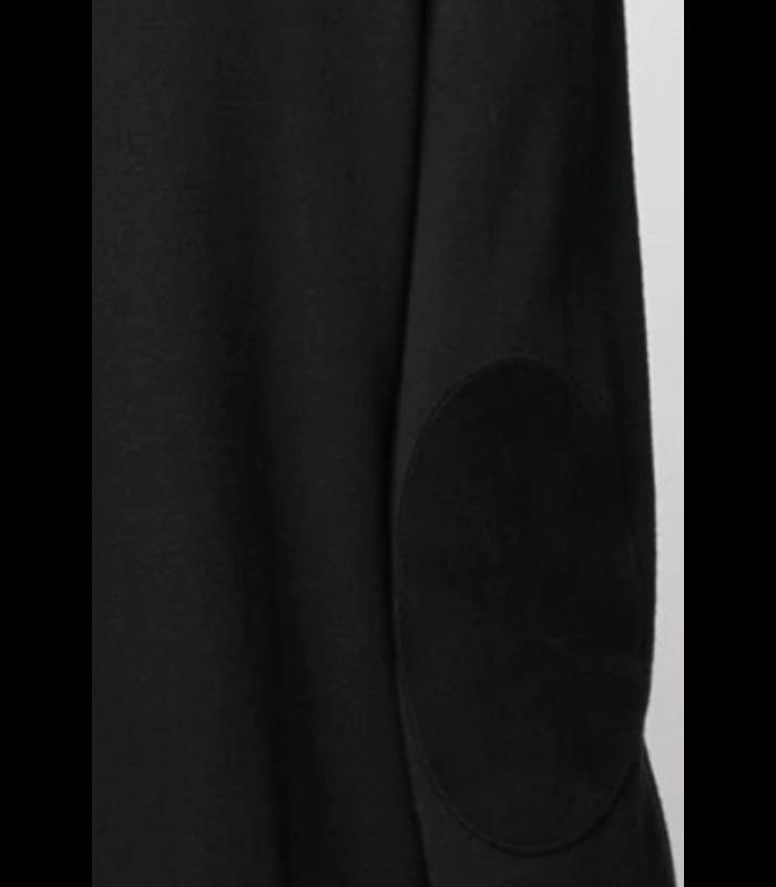 ELBOW PATCH KNITWEAR TURTLENECK BLACK
