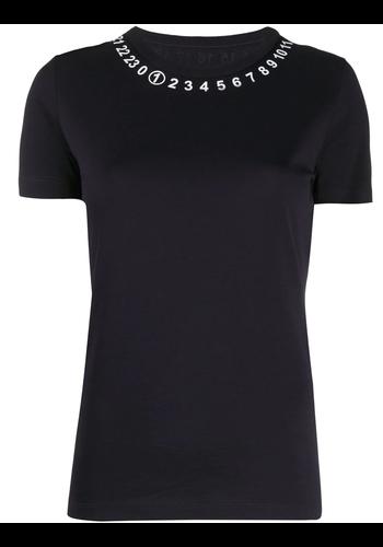 MAISON MARGIELA logo embellished jersey t-shirt navy