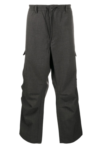 Y-3 classic winter wool pants charcoal