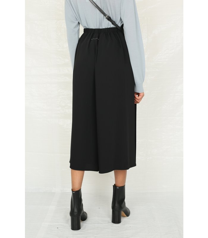 pleated high-waisted cullotes