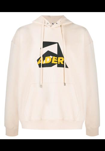 ADER ERROR hoodie front print ivory