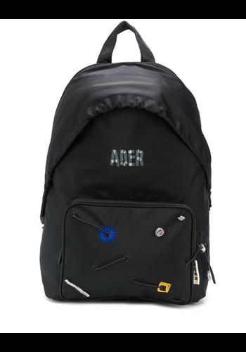 ADER ERROR detachable hood backpack black