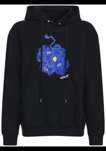 ADER ERROR embroidery hoodie black