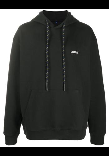 ADER ERROR front print hoodie black