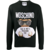 MOSCHINO EMBROIDERED KNIT SWEATER BLACK