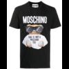 MOSCHINO EMBROIDERED T-SHIRT BLACK