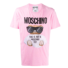 MOSCHINO EMBROIDERED T-SHIRT PINK