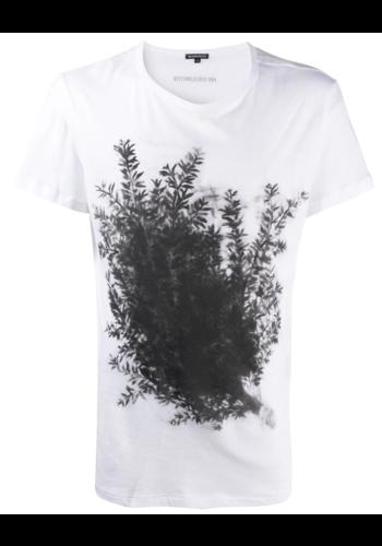 ANN DEMEULEMEESTER t-shirt fine print white branch