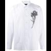 "ANN DEMEULEMEESTER SHIRT COTONE WHITE + PRINT ""FLOWER"""