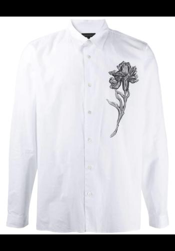 ANN DEMEULEMEESTER shirt cotone white print flower