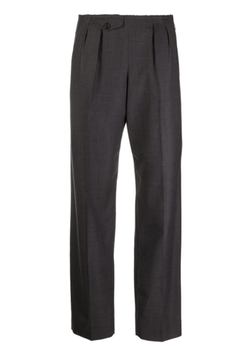 MAISON MARGIELA dark grey melange cut trousers