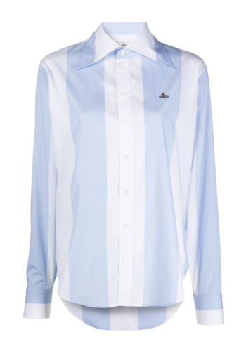 VIVIENNE WESTWOOD pianist shirt white blue