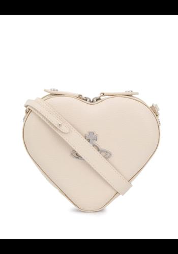 VIVIENNE WESTWOOD johanna heart crossbody bag beige