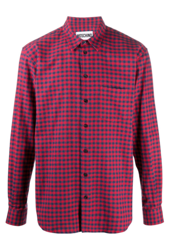MOSCHINO tartan shirt red blue