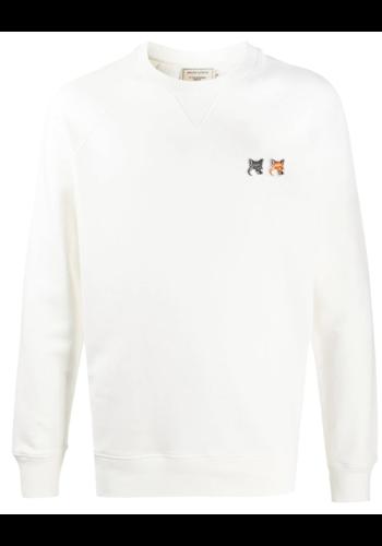 MAISON KITSUNE sweatshirt double fox head latte