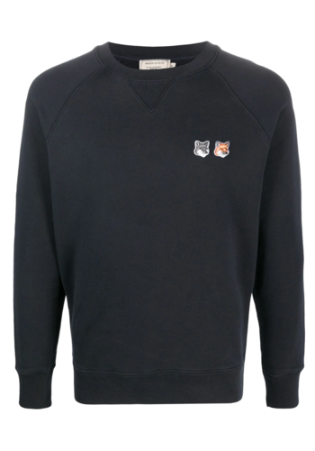 MAISON KITSUNE sweatshirt double fox anthracite