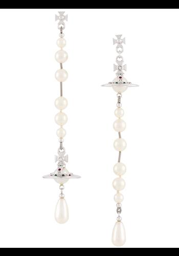 VIVIENNE WESTWOOD broken pearl earrings