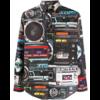 MOSCHINO RADIO PRINT SHIRT MULTICOLOR