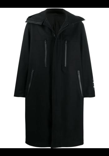Y-3 melton duggle coat black