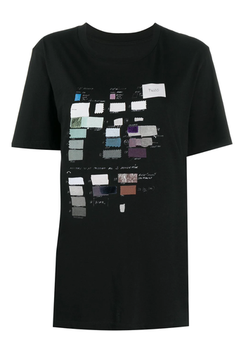 MM6 MAISON MARGIELA fabric swatch t-shirt black
