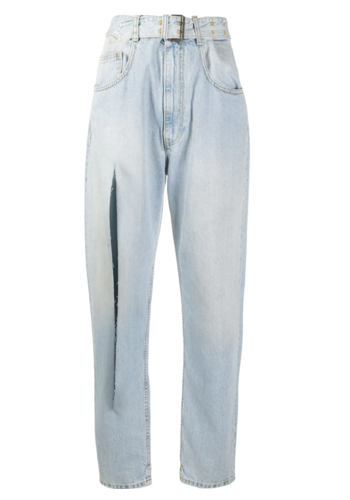 MAISON MARGIELA super bleach rip denim