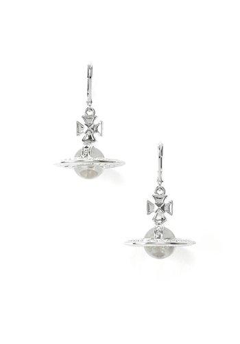 VIVIENNE WESTWOOD pina orb earrings rhodium