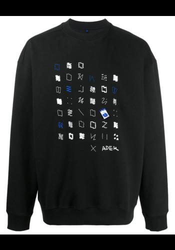 ADER ERROR sweatshirt mixed embroidery black