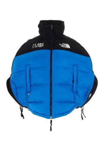 MM6 MAISON MARGIELA northface collab 'circular' down jacket  lake blue