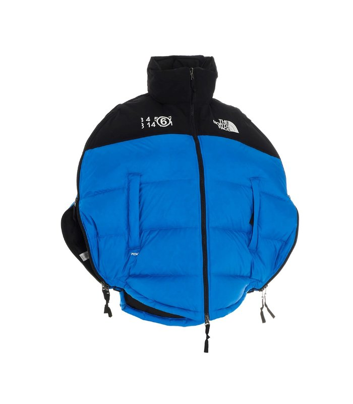 MM6 X NORTHFACE Collab. The North Face 'Circular' down jacket  Lake Blue