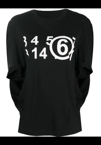 MM6 MAISON MARGIELA northface collab 'circular' t-shirt black