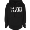 MM6 MAISON MARGIELA MM6 X NORTHFACE  'Circular' oversized hoodie black