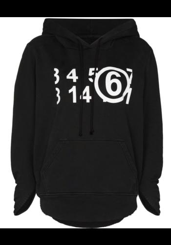 MM6 MAISON MARGIELA northface collab 'circular' oversized hoodie black