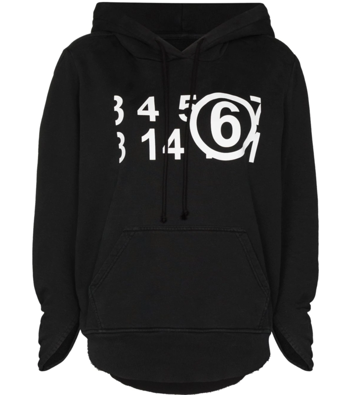 MM6 X NORTHFACE  'Circular' oversized hoodie black