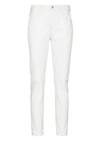 MM6 MAISON MARGIELA studio collection high-rise skinny leather pants  white front zip