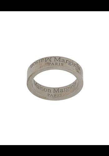 MAISON MARGIELA logo ring matte silver