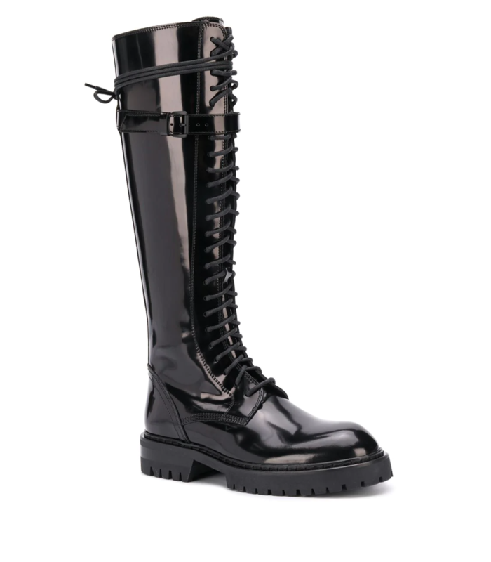 LEATHER BOOTS BUCKLE BLACK