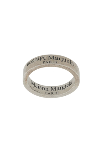 MAISON MARGIELA logo ring matte brunito