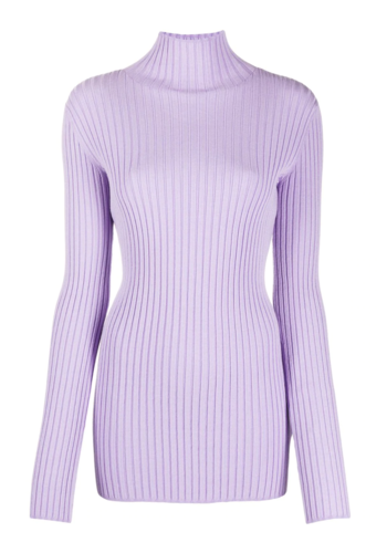 MM6 MAISON MARGIELA lilac turtleneck knitwear