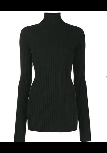 MM6 MAISON MARGIELA black turtleneck knitwear