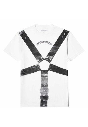 PLEASURES harness t-shirt white