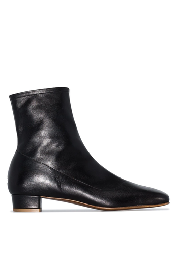BY FAR este leather boots black