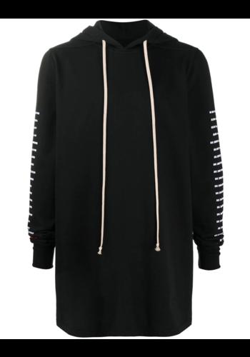 RICK OWENS DRKSHDW pullover hoodie black/chalk white