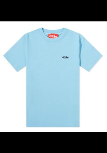 032C t-shirt front & back print blue