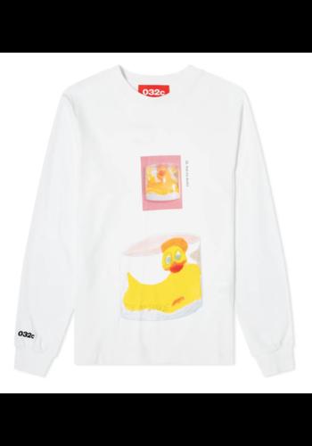 032C longsleeve duck white