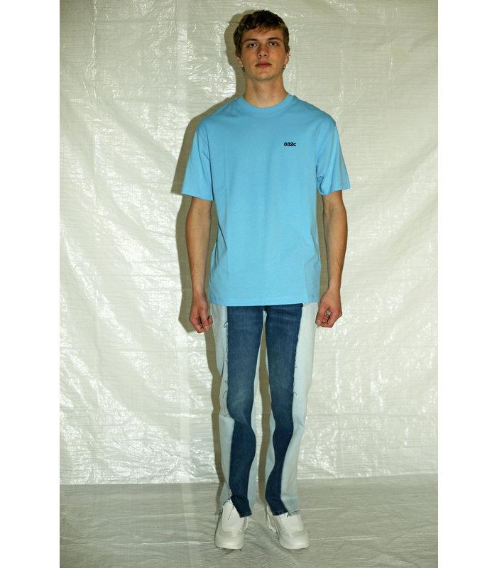 T-SHIRT FRONT&BACK PRINT BLUE