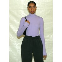 LILAC TURTLENECK KNITWEAR